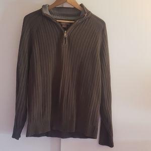 G.h. bass quarter zip sweater  size L